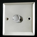 Varilight 1 Gang 1 or 2 Way 400W Push on/off Dimmer Light Switch Mirror Chrome HC3